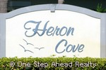 sign for Heron Cove of Baywinds